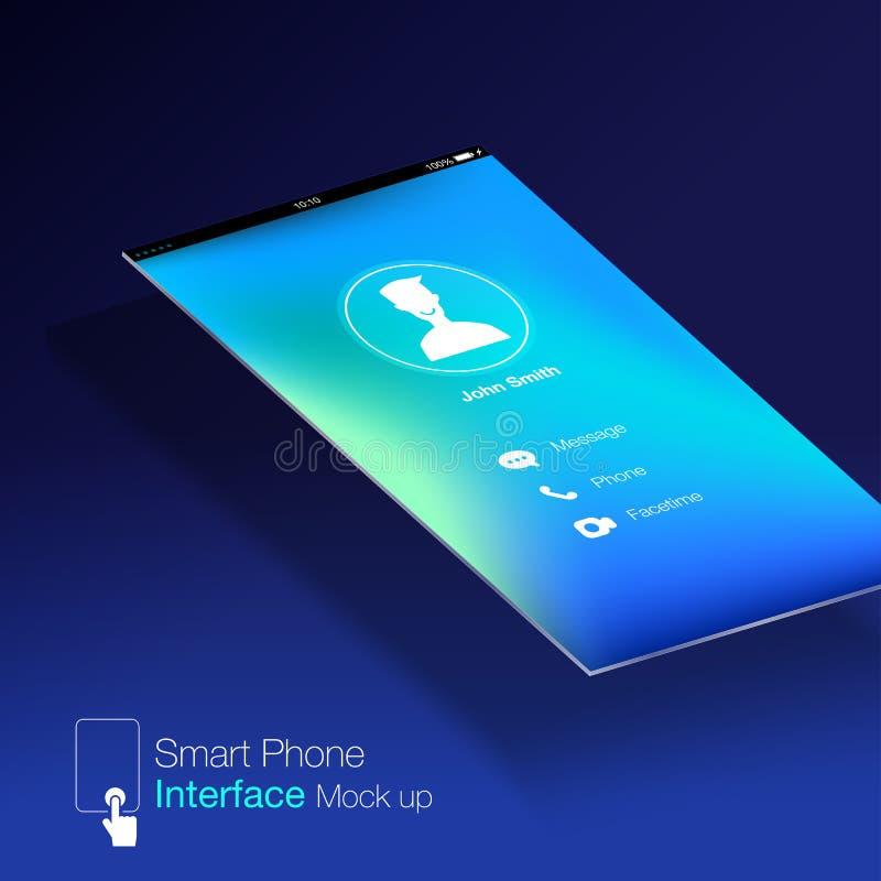 智能手机接口Ui屏幕的设计嘲笑, 向量例证