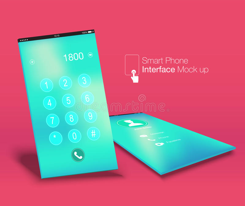 智能手机接口Ui设计嘲笑, phone6比率屏幕,叫喊 皇族释放例证