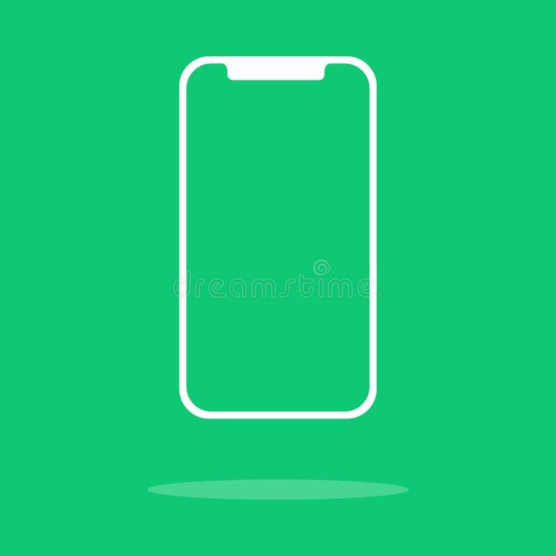 智能手机概述象  空的屏幕 库存例证