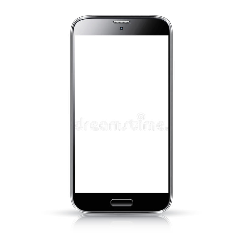 智能手机现实传染媒介例证隔离 库存例证