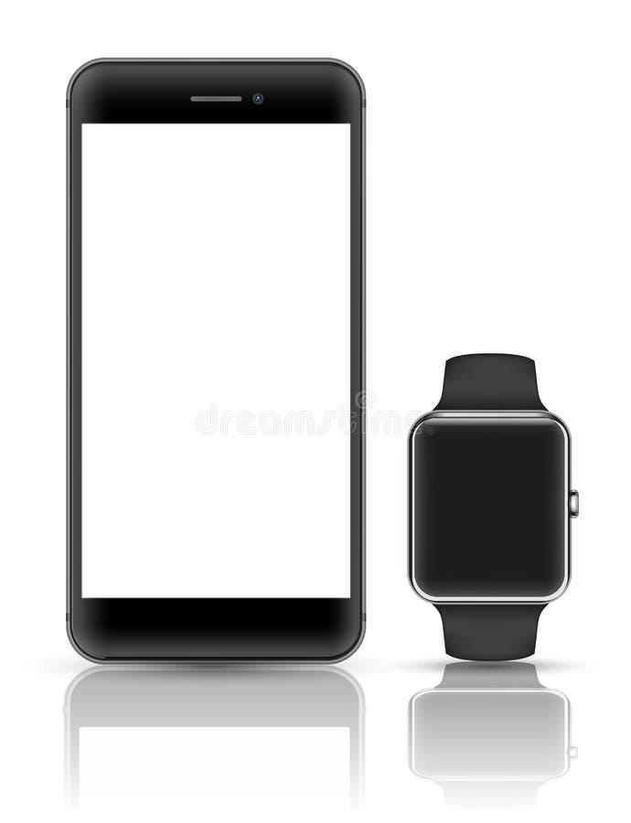 智能手机现实传染媒介3D的大模型 向量例证