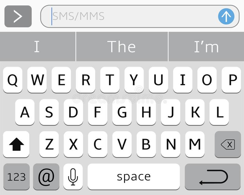 智能手机的真正键盘 库存例证