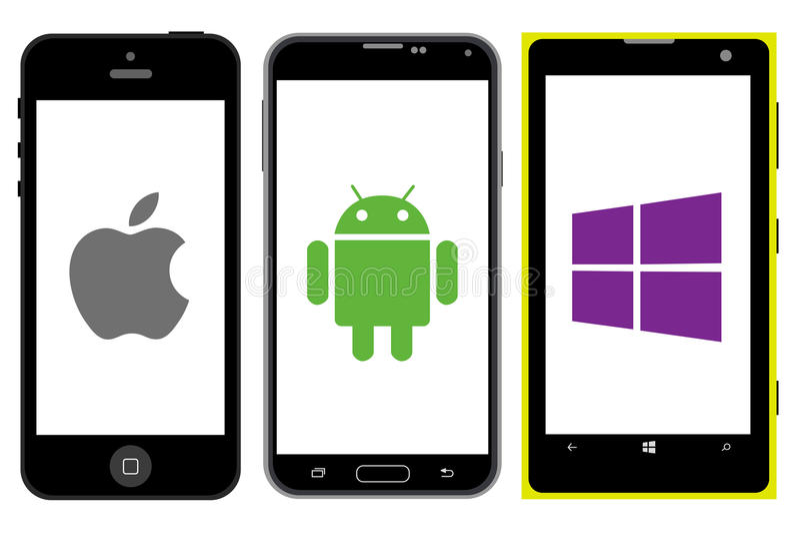 智能手机竞争 皇族释放例证