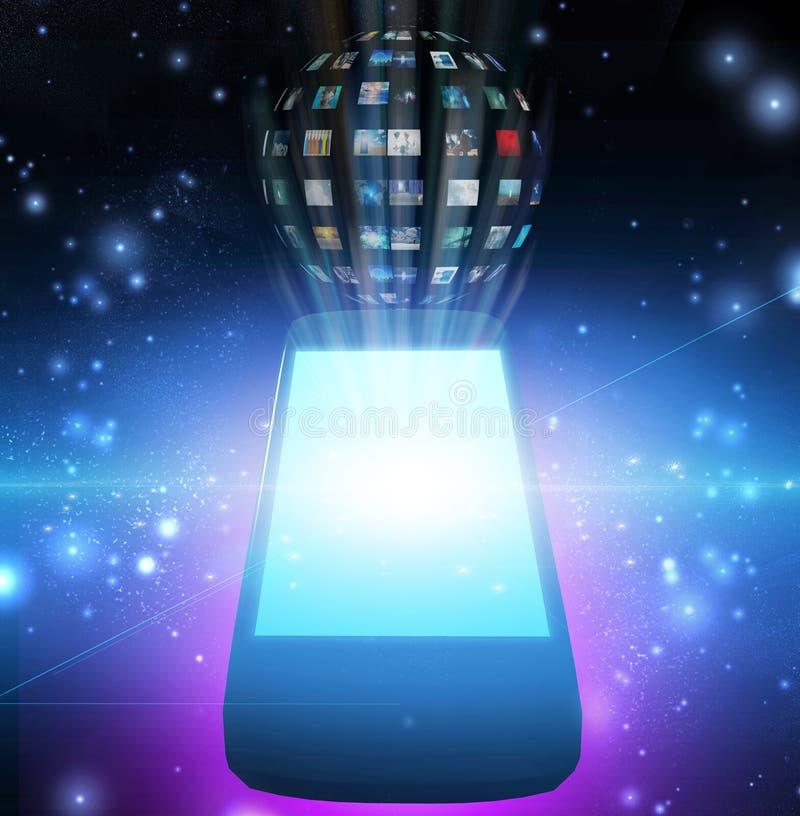智能手机 皇族释放例证