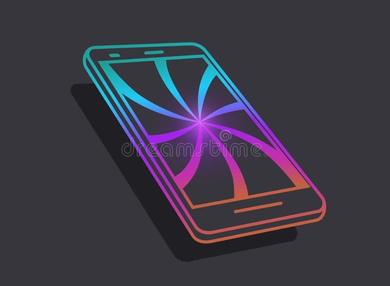 智能手机 现代技术象  有吸引力的技术和互联网的概念的概念 皇族释放例证