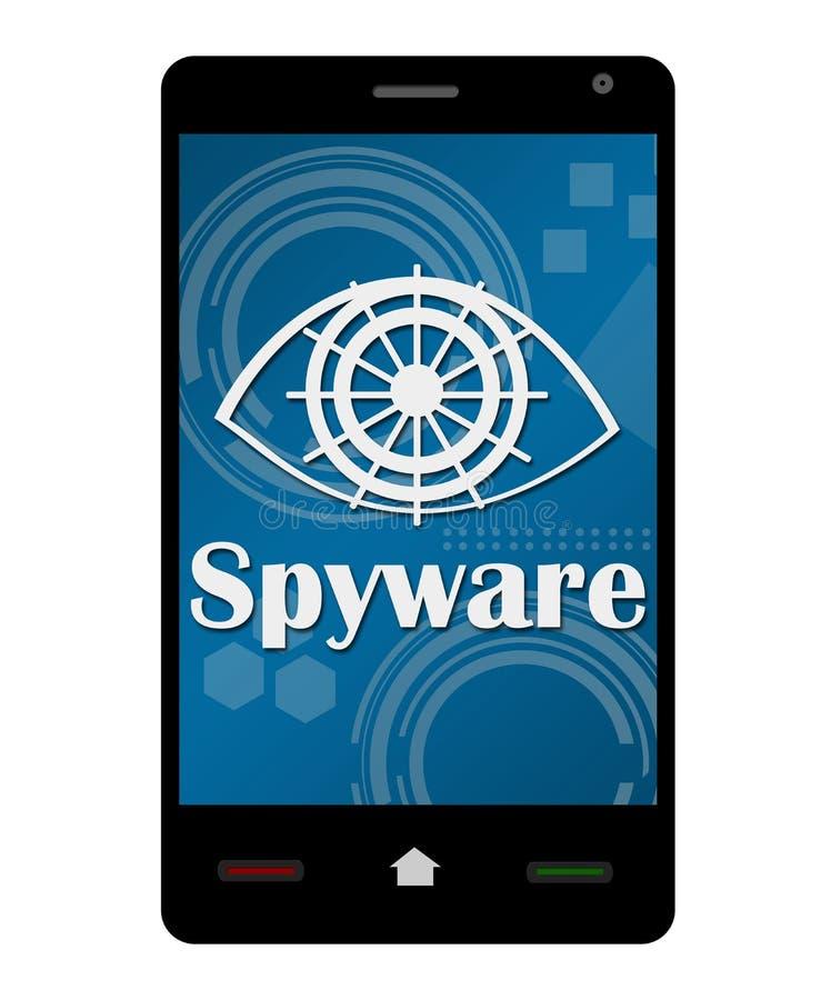 智能手机间谍软件 向量例证