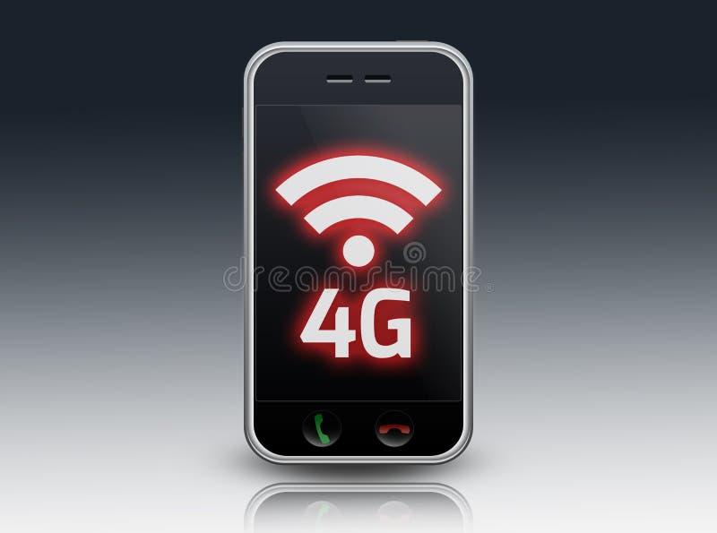 智能手机4G LTE 库存例证