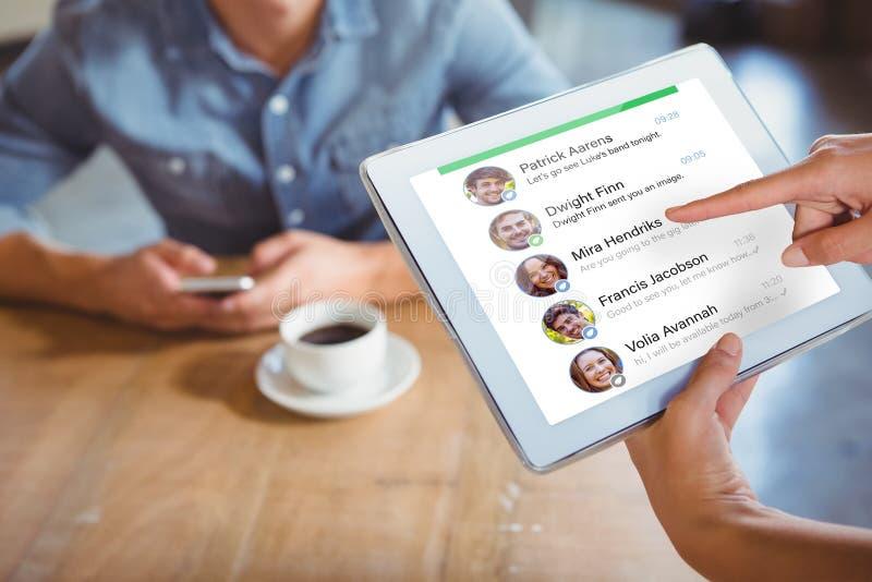 智能手机app菜单的综合图象 图库摄影