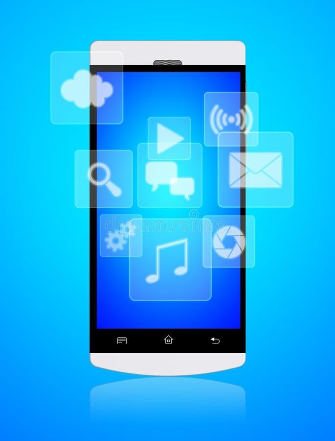 智能手机apps 库存例证