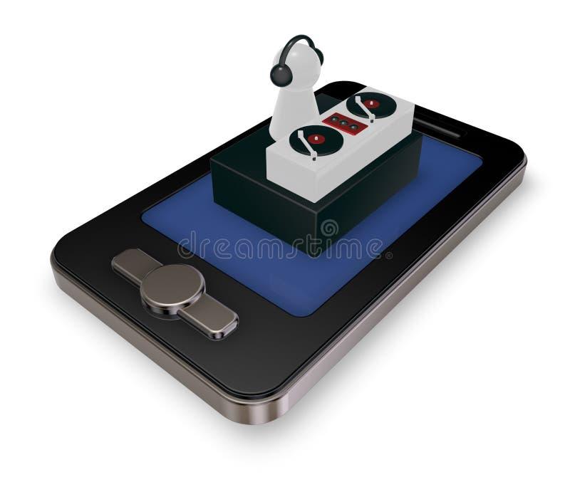 智能手机dj 皇族释放例证
