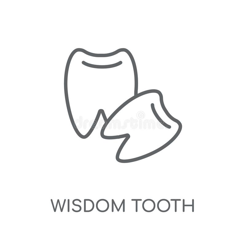 智齿线性象 现代概述智齿商标conce 库存例证