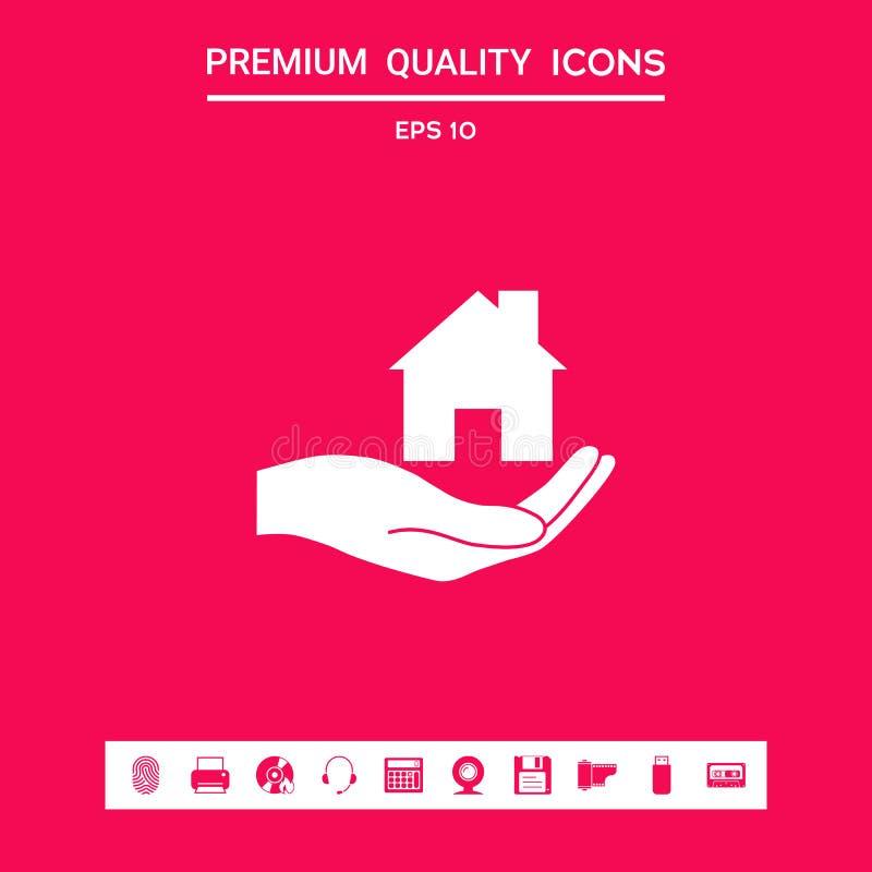 暂挂的现有量在家 您的设计的图表元素 库存例证