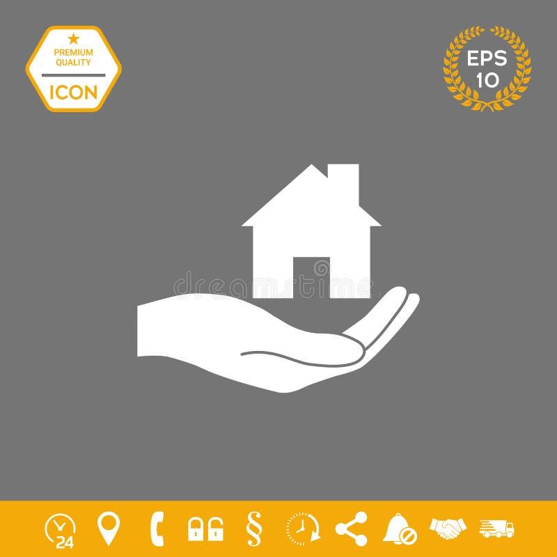 暂挂的现有量在家 您的设计的图表元素 皇族释放例证