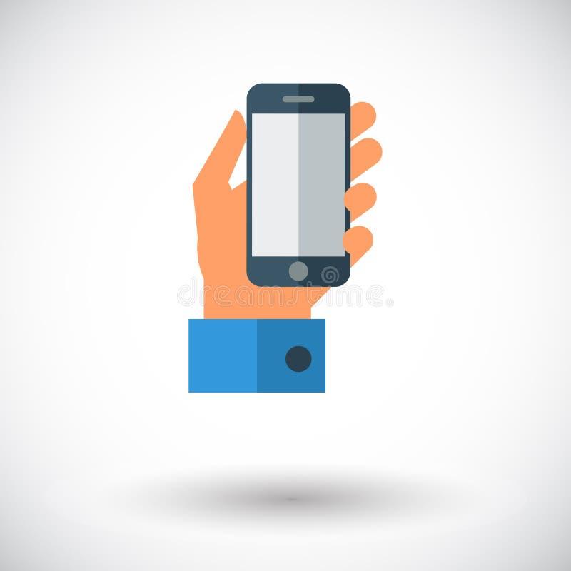 暂挂移动电话发送的数字式电子邮件格式现有量 库存例证