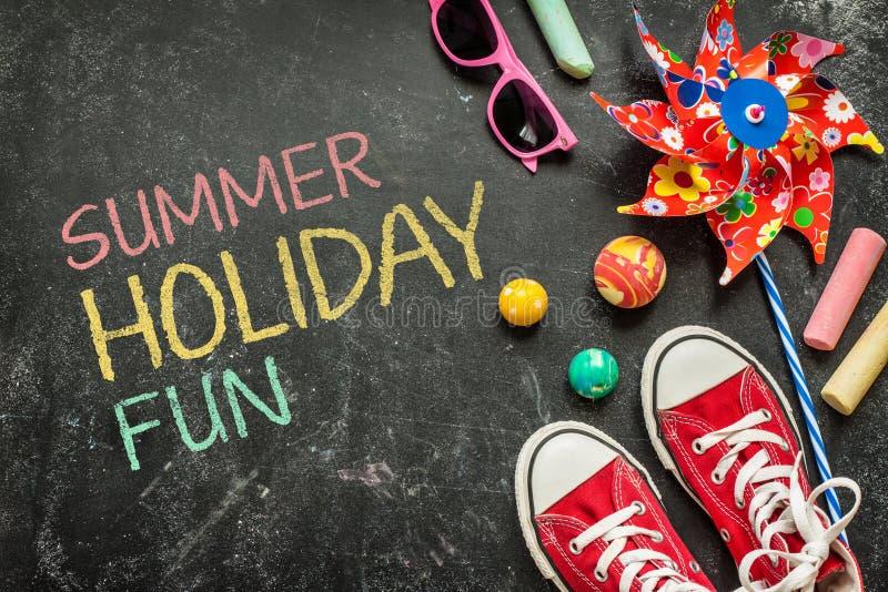 暑假乐趣,海报设计,童年 库存图片