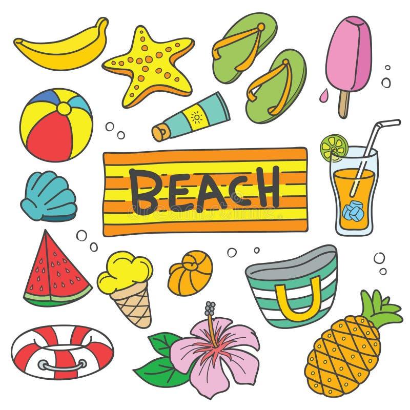 暑假传染媒介动画片例证 库存例证