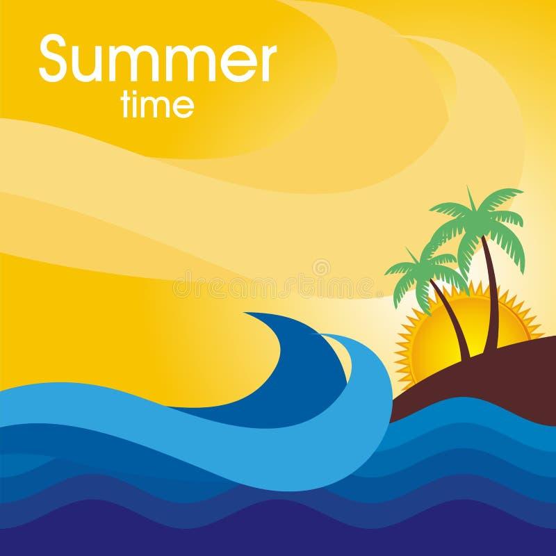 暑假卡片设计 免版税库存图片