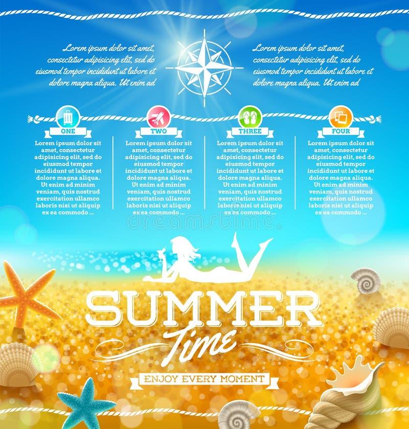 暑假和旅行设计 皇族释放例证