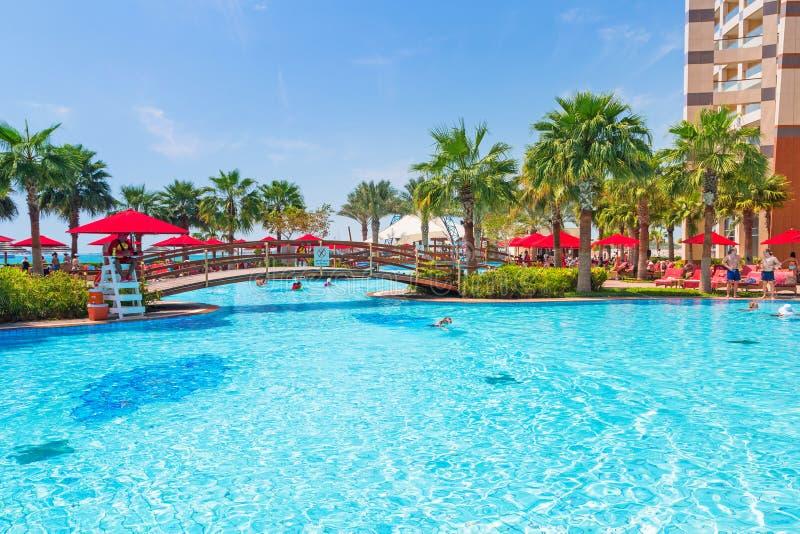 暑假在阿布扎比,阿拉伯联合酋长国 免版税库存图片