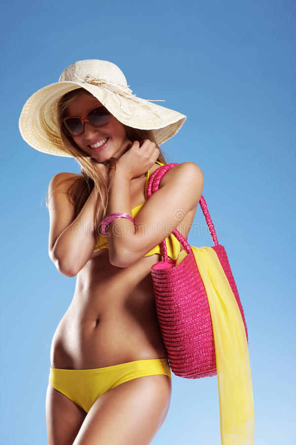 暑假妇女 库存照片