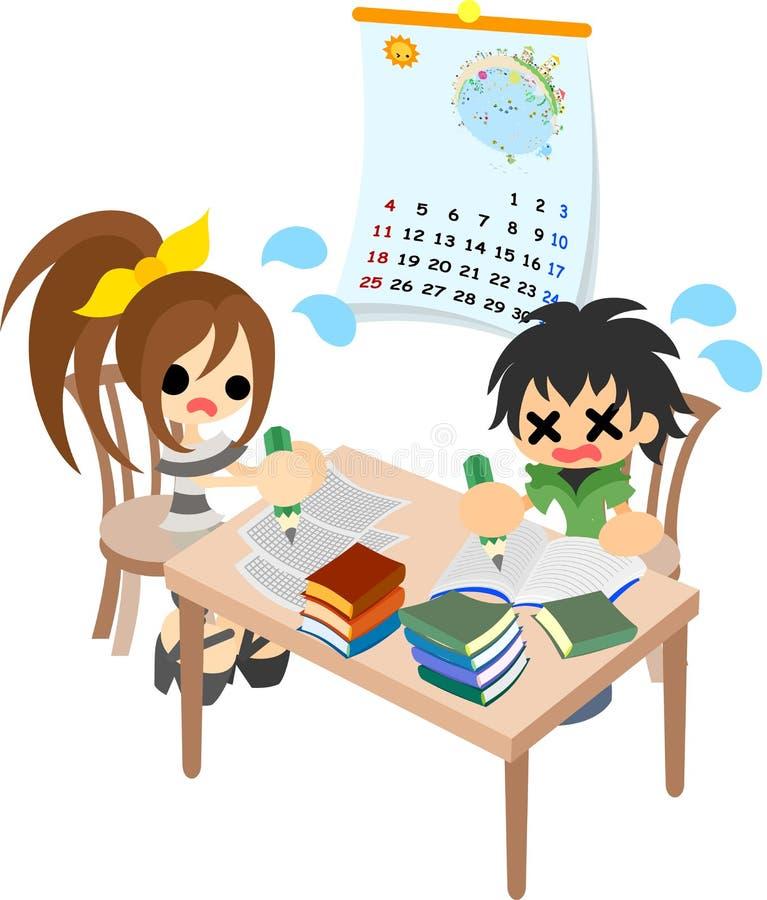 暑假家庭作业  库存例证