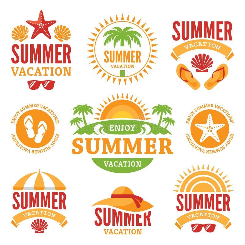 暑假标签 库存例证