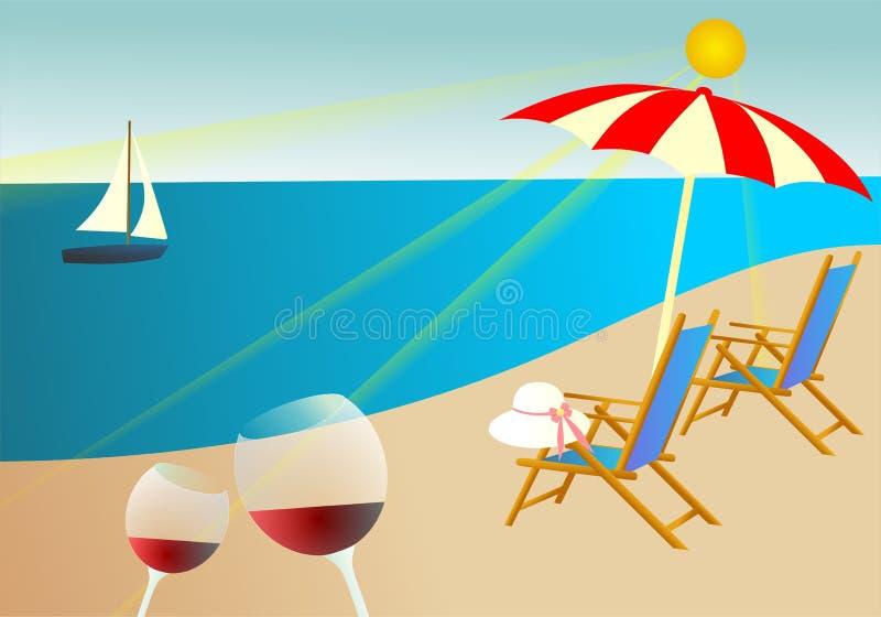暑假背景 向量例证