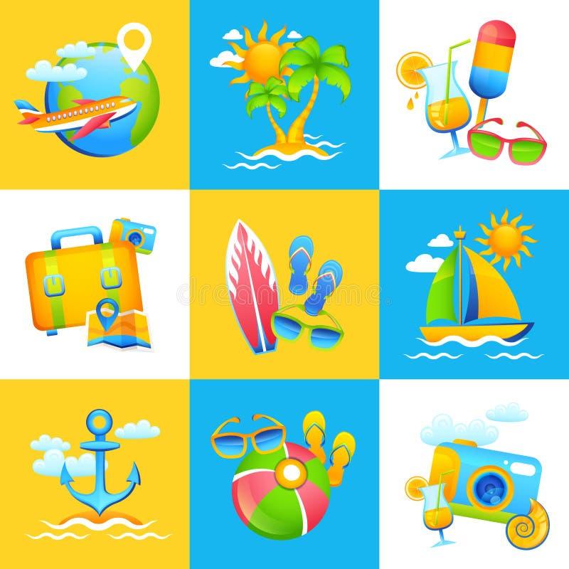 暑假设计观念 向量例证