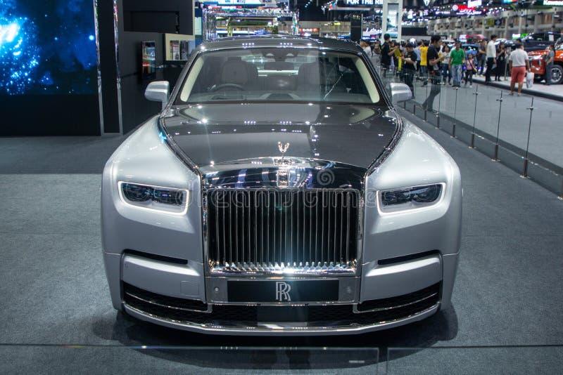 暖武里,泰国- 2018年12月6日:在汽车展示会的劳斯莱斯汽车现代设计 免版税库存照片