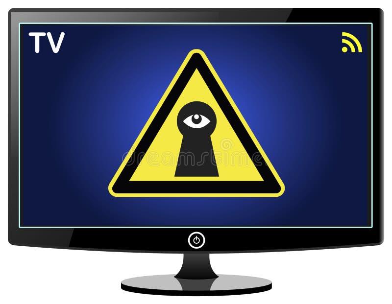 暗中侦察在您的聪明的电视 向量例证