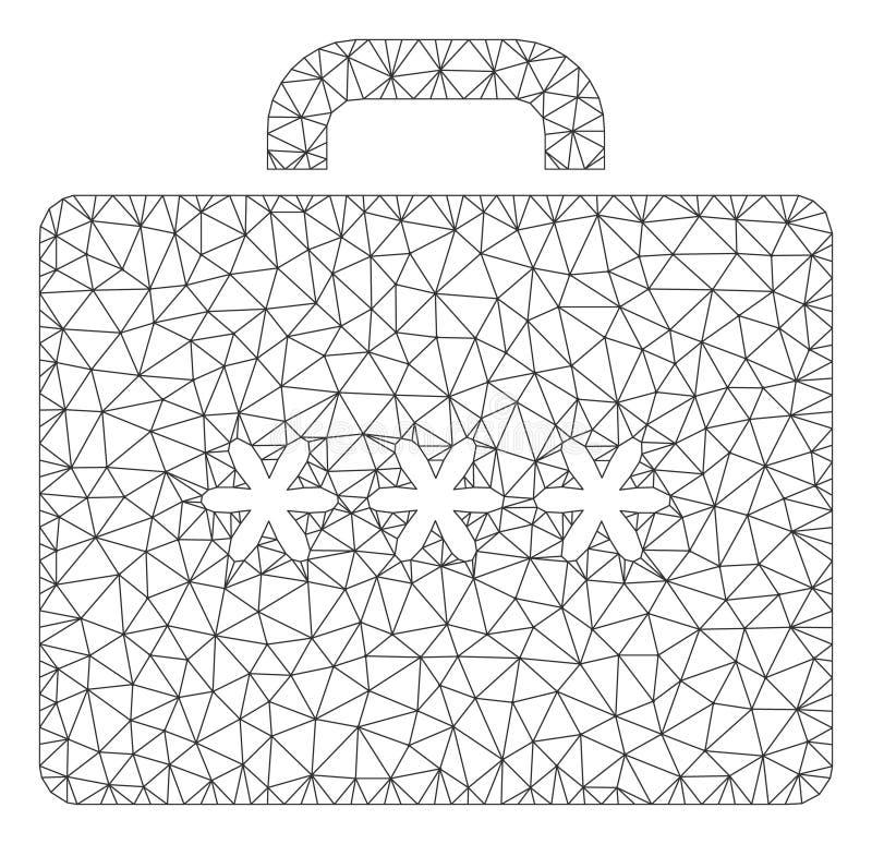 暗号案件多角形框架传染媒介滤网例证 皇族释放例证