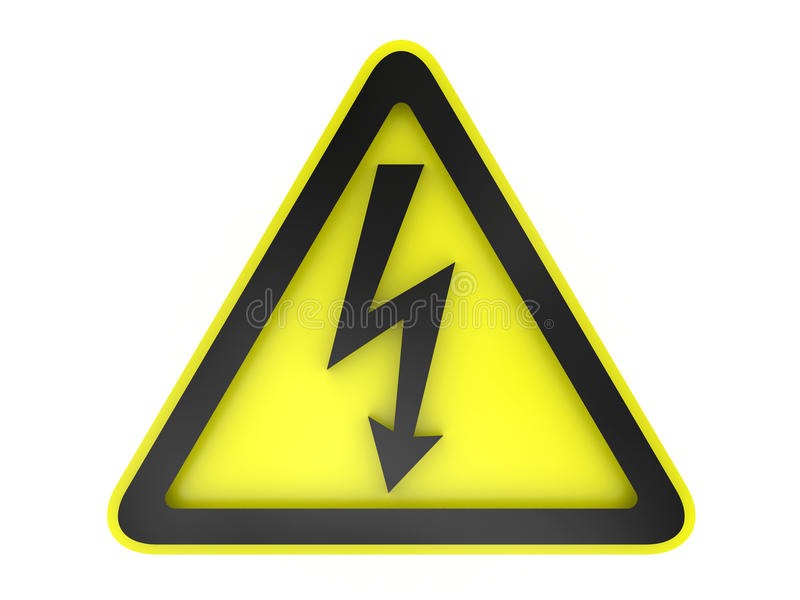 暗号电压警告 库存例证