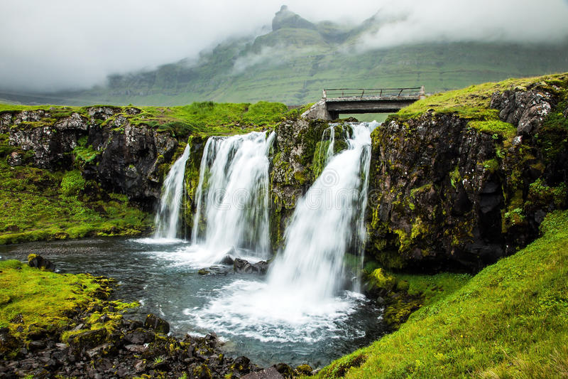 阴暗天在冰岛 图库摄影