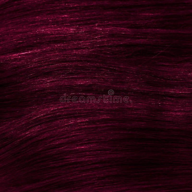 黑暗桃红色健康夹子在头发纹理 免版税库存图片