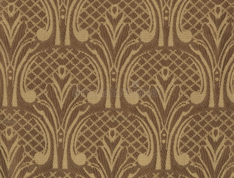 黑暗的丝织物纹理与一个过大的被绣的花卉样式的 库存例证