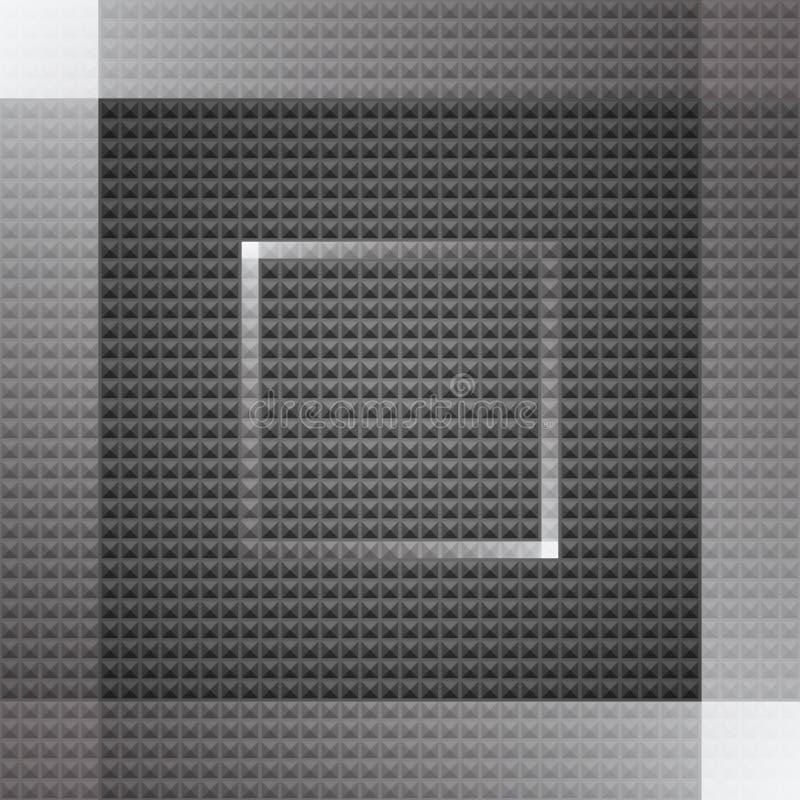黑暗的几何背景 向量例证