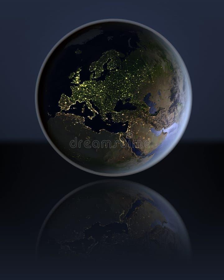 黑暗的地球的欧洲 库存例证