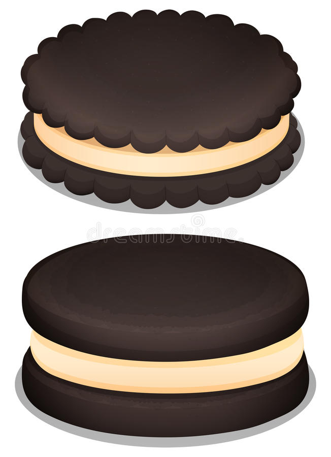 Download 黑暗的巧克力曲奇饼和奶油 库存例证. 插画 包括有 例证, 空白, 烘烤, 来回, 对象, 查出, 香草 - 59108113