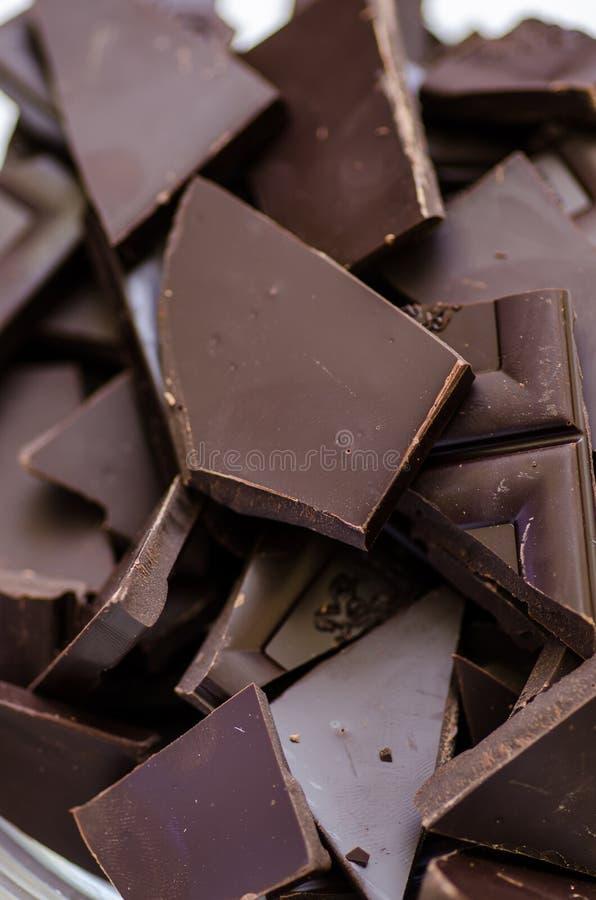 黑暗的巧克力 库存照片