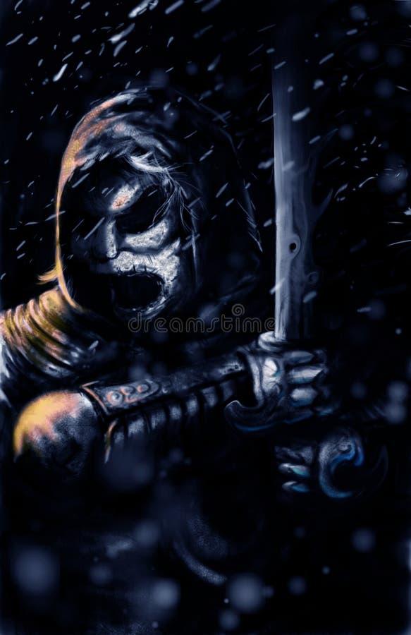黑暗的战士 库存照片