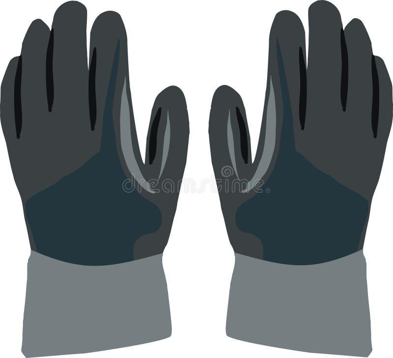 黑暗的手套工作 库存例证