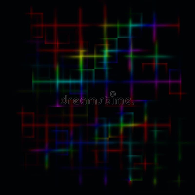 黑暗的抽象迷宫背景 库存例证