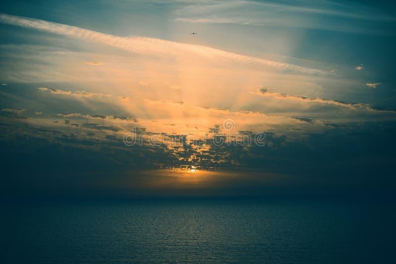 黑暗的日落 库存图片