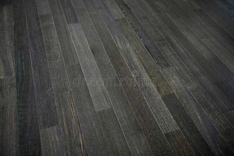 黑暗的木地板 免版税图库摄影