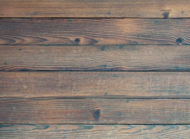 黑暗的木甲板背景 库存照片