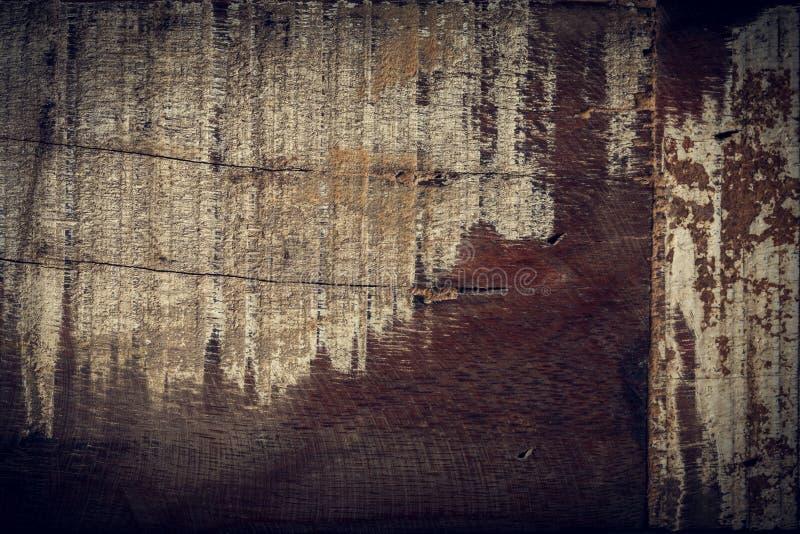 黑暗的木背景,木板概略的五谷表面 免版税库存图片