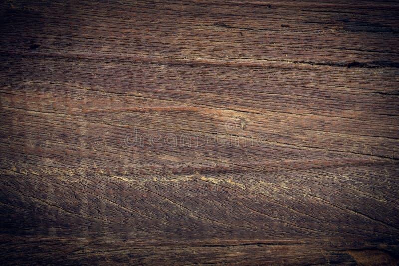 黑暗的木背景,木板概略的五谷表面 免版税图库摄影