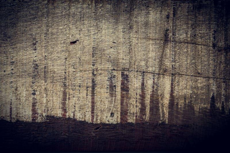 黑暗的木背景,木板概略的五谷表面 免版税库存照片