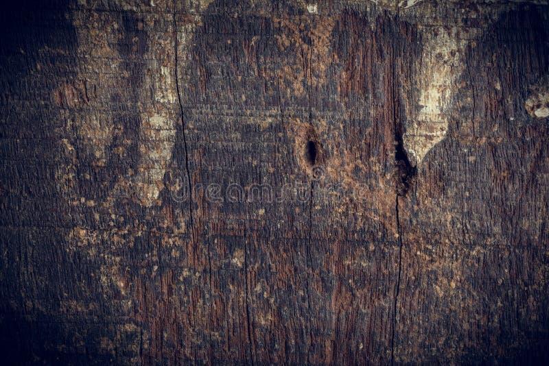 黑黑暗的木背景 库存照片