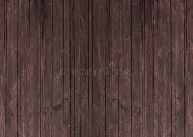 黑暗的桃花心木棕色木口气织地不很细背景 向量例证
